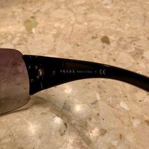 Womens PRADA wrap sunglasses